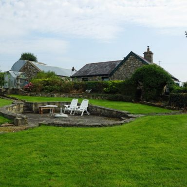 View of Workshop & Cottage from Garden